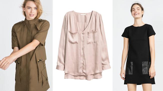 | זהירות כיסים | מימין: למה לא (Zara), באמצע: לא ולא H&M,  משמאל: הו, לא!  (Zara) |