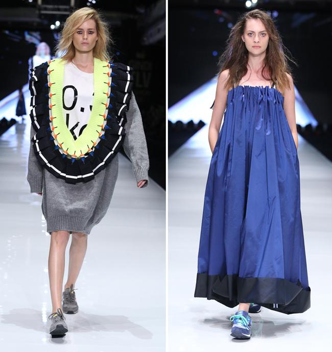 | שמלת ערב וסוודר אובר-סייז | אמיר מרק |