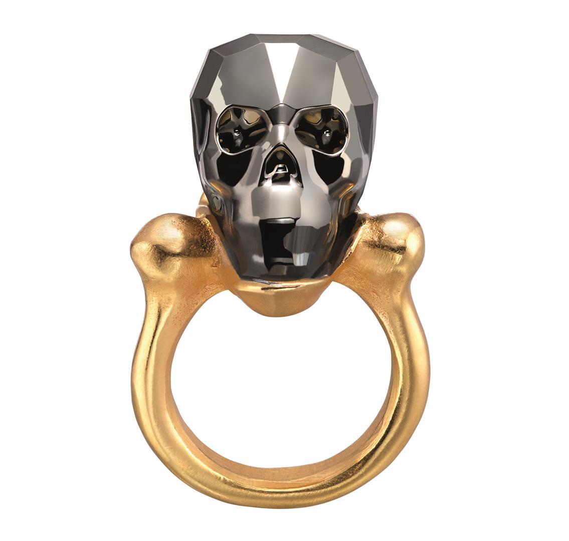 UNO de 50 טבעת גולגולת זהב 975 שח צילום יחצ חול (Large)