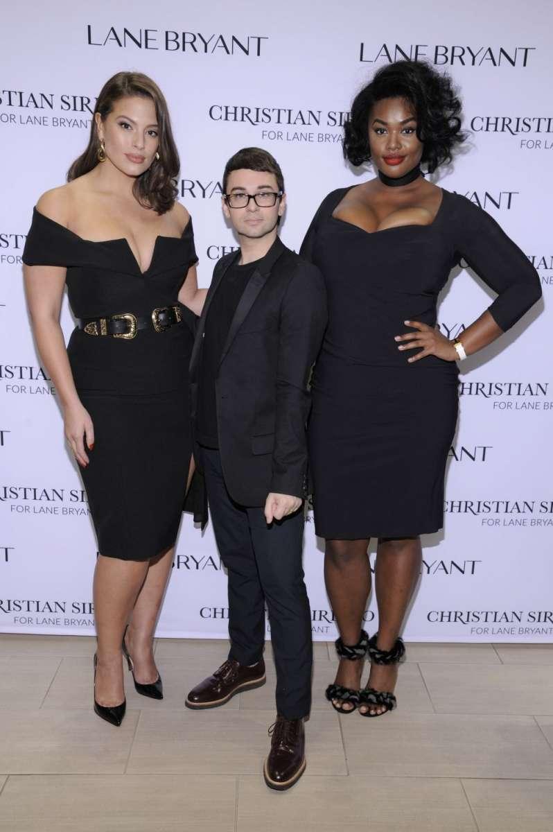 resized_Ashley Graham, designer Christian Siriano, and model Precious Lee