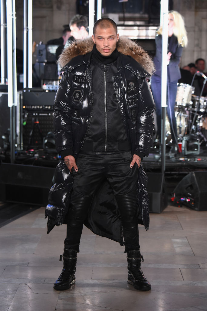 Model Jeremy Meeks the runway for the Philipp Plein