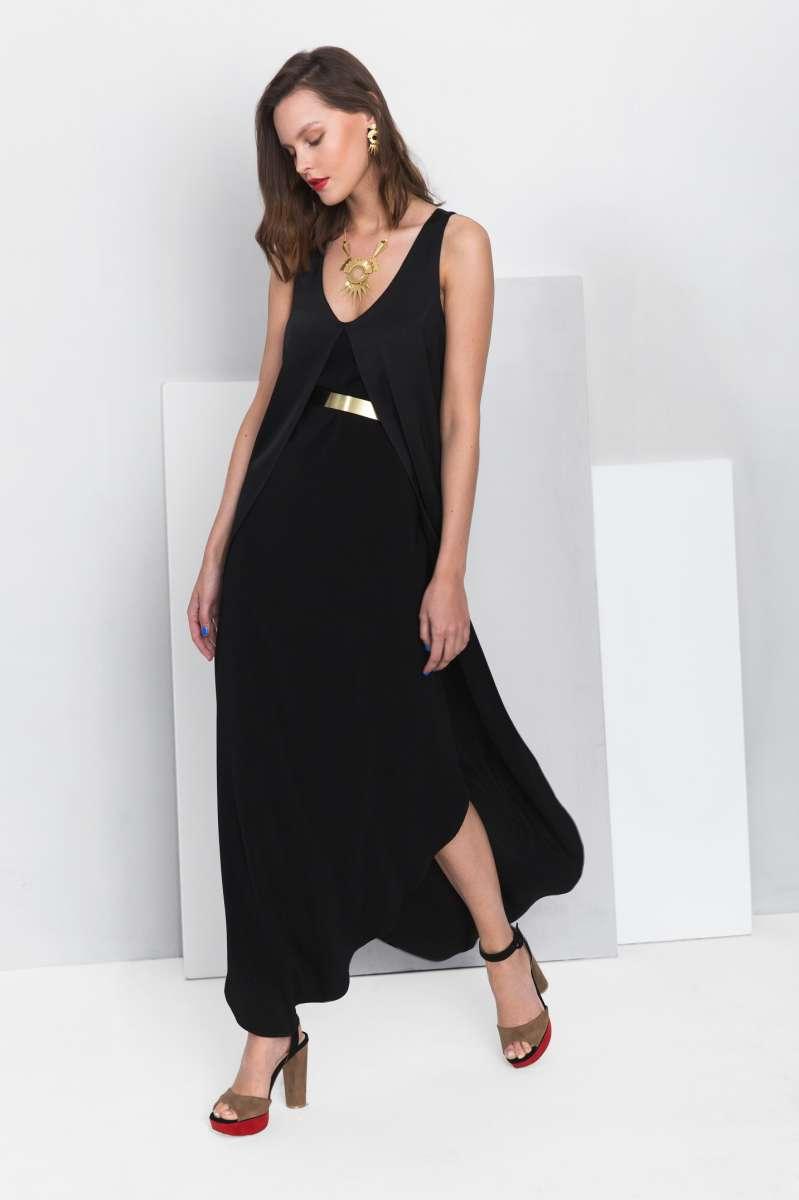 פזית קידר שמלת ערב שחורה  1490שח צילום ליאור קסון