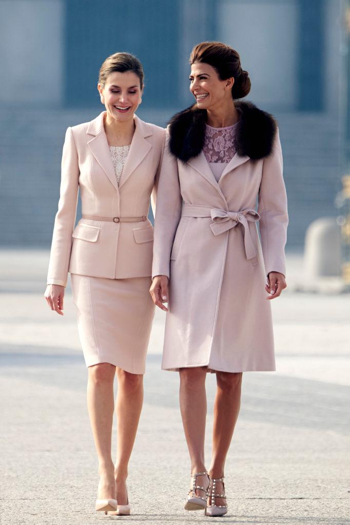 Spanish Royals Receive President Mauricio Macri And His Wife