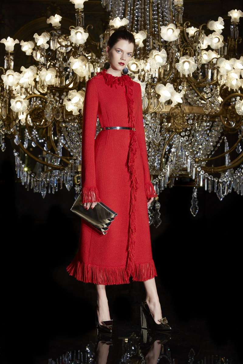 פולקה למילוס שמלת צמר וקשמיר מקסי אדומה 3500שח צילום יחצ חול