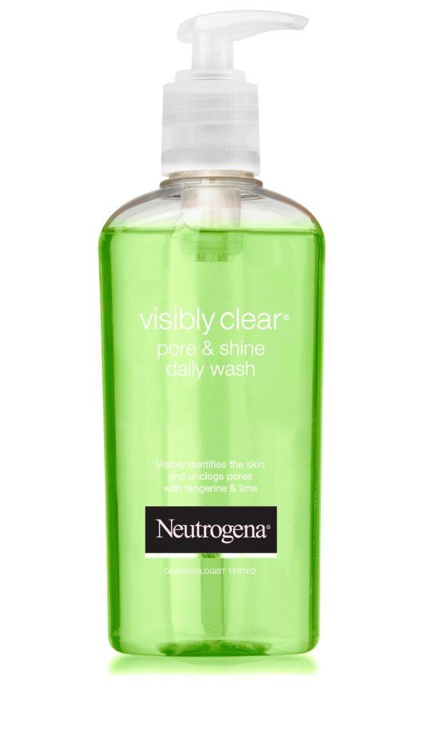 Neutrogena vis clear Shine  pore pumpv6 תרחיץ פנים מחיר 93.40 שח קרדיט אפרת אשל