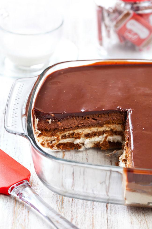עוגת ביסקוויטים קלאסית (צילום: כפיר חרבי)