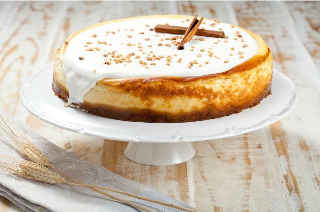 שבועות. עוגת גבינה קינמון של ביסקוטי