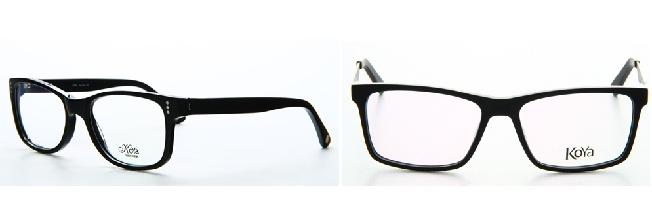 משקפיים שחורים עם מסגרת פלסטיק עבה: הצהרה אופנתית למתוחכמות (צילום: אופטיקנה)