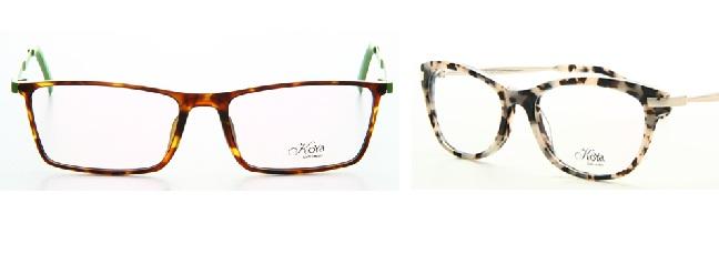 משקפיים במסגרת מנומרת: קלאסיות עם אדג' (צילום: אופטיקנה)