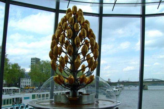 מזרקת השוקולד במוזיאון בקלן (צילום מתוך אתר האינטרנט העירוני)