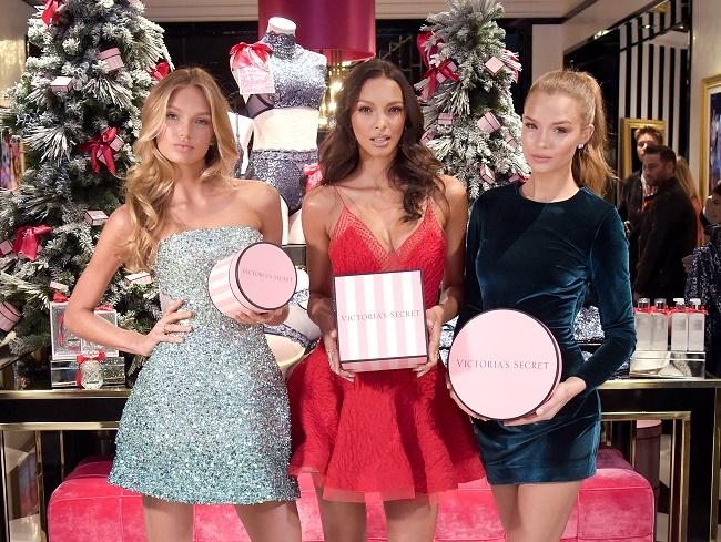 Victoria's Secret Angels Josephine Skriver, Lais Ribeiro, Romee Strijd Celebrate The Victoria's Secret Fashion Show At The New 5th Avenue Store