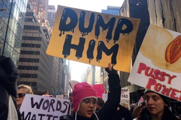 מחאה נגד טראמפ בניו יורק