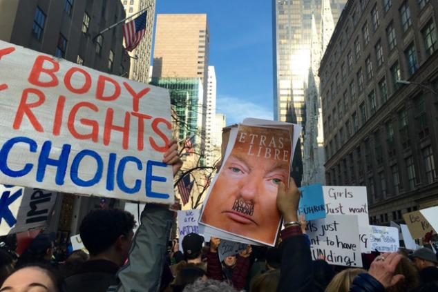 מחאת טראמפ בניו יורק