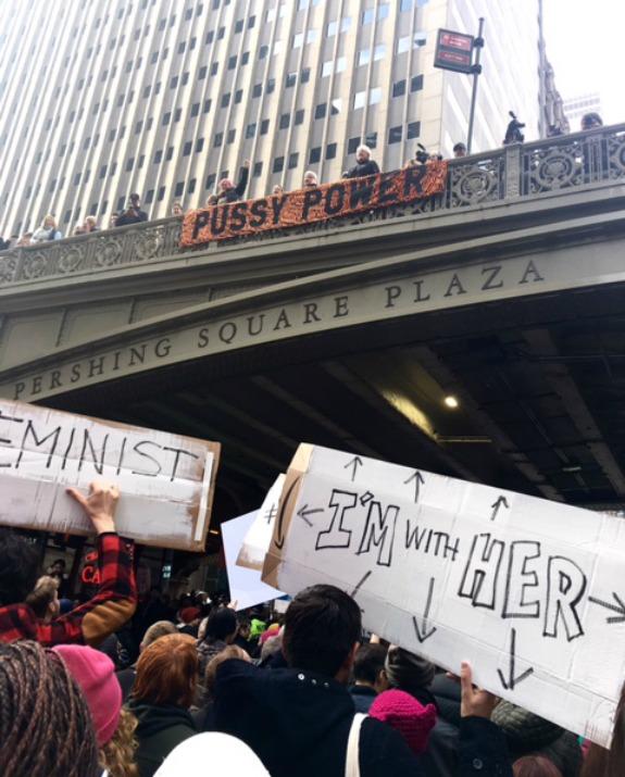 מחאת הנשים בניו יורק