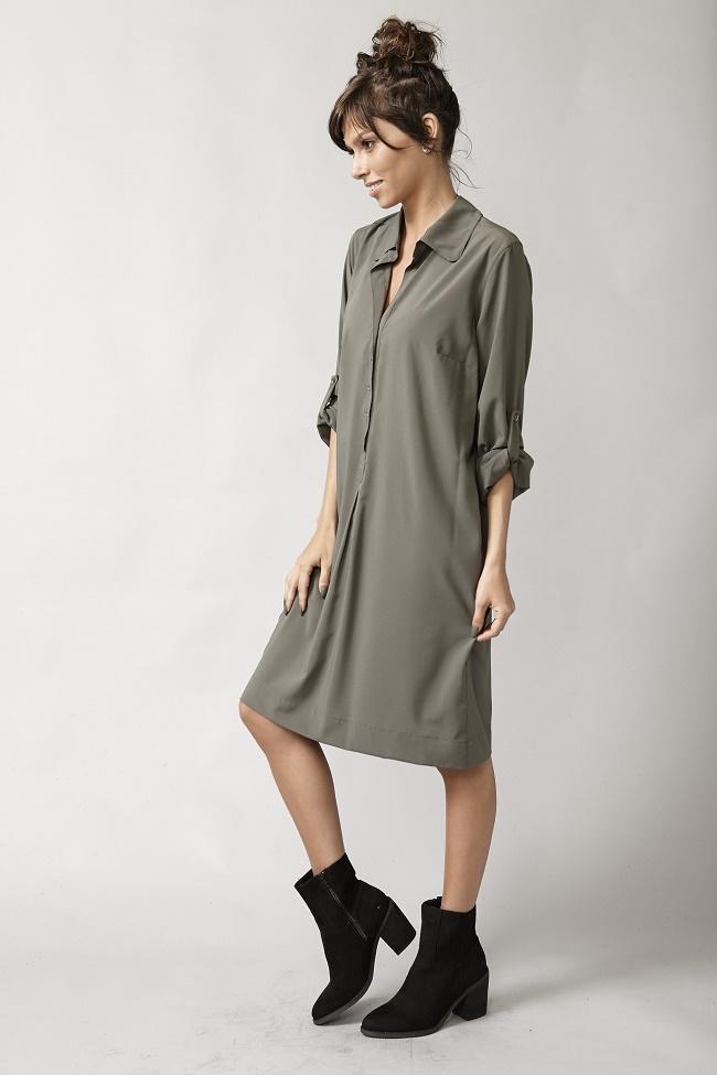 פרופיל שמלה בצבע ירוק מחיר 99שח במקום 279שח צילום יאיר כרמל