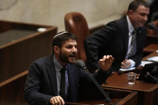 """ח""""כ בצלאל סמוטריץ' נואם בהצבעה על חוק ההסדרה (צילום: דוברות הכנסת)"""