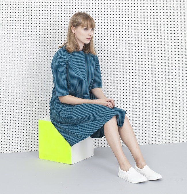 fiss-Gathering-Oversize-Dress-Teal-Gingham-4