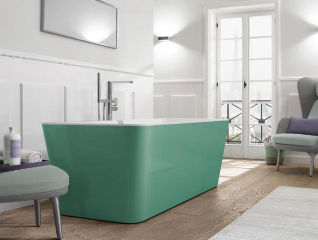 """האמבטיה הירוקה של villeroy & boch, משווקת בלעדית על ידי רשת נגב (צילום: יח""""צ נגב)"""