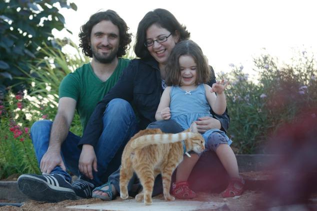 תמר נצר ומשפחתה