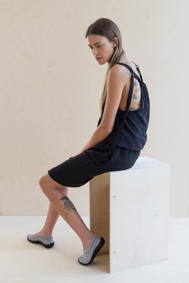 black colar dress-440 nis - Copy