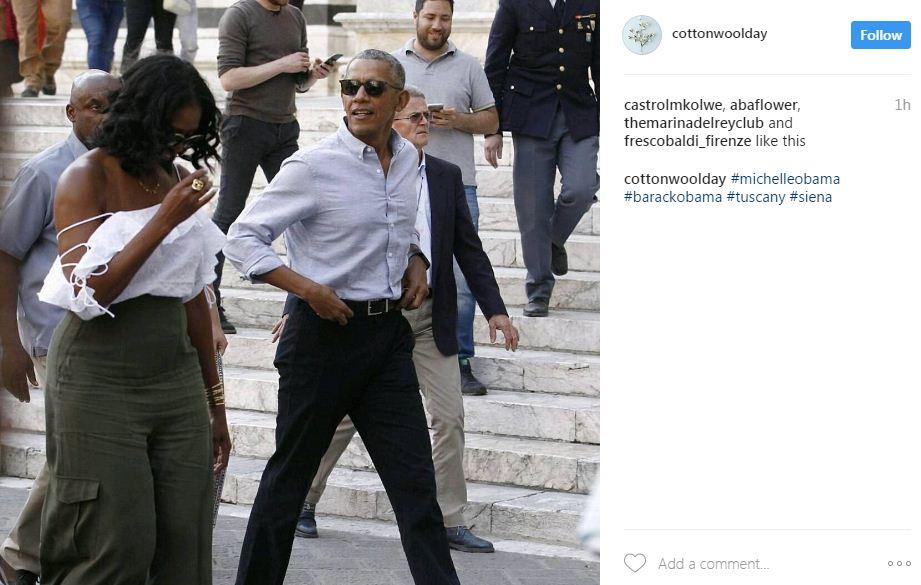 מישל אובמה באיטליה