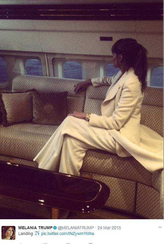מלניה מהמטוס
