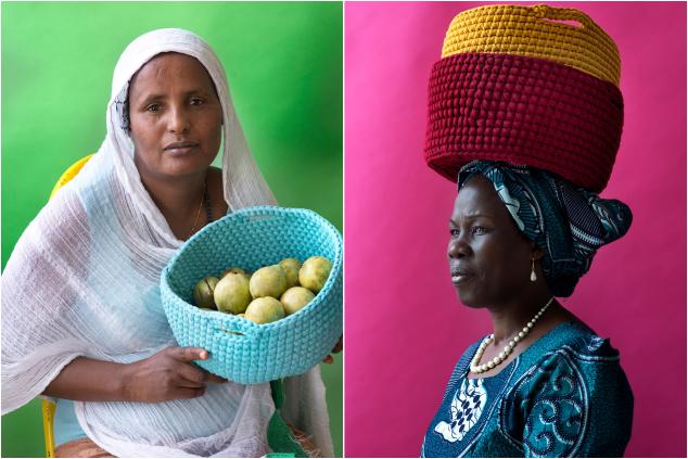 בירי ולינה, נשות קוצ'ינטה (צילום: מירי דוידוביץ)