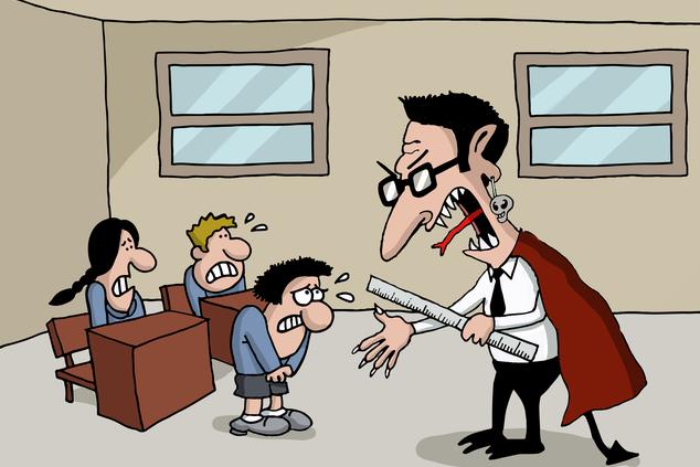 המורה הוא האיש הרע (איור: שאטרסטוק)