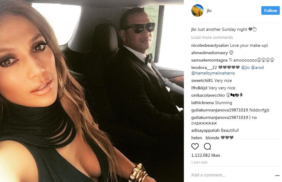 ג'ניפר לופז ובן זוגה