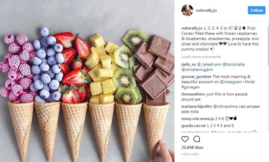 גלידה צבעים