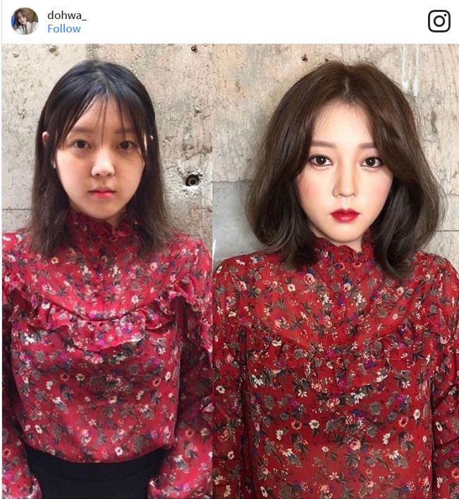 איפור סיני לפני ואחרי
