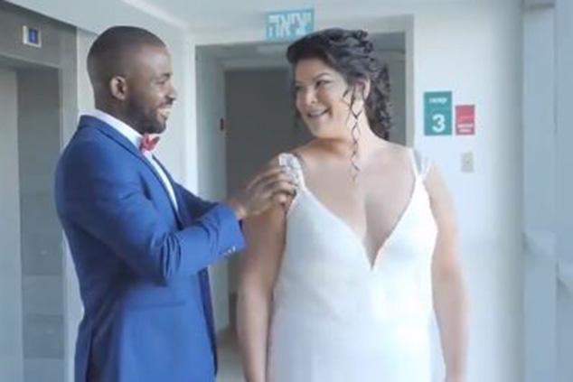 ליואר ומרטין מתחתנים (צילום מסך)