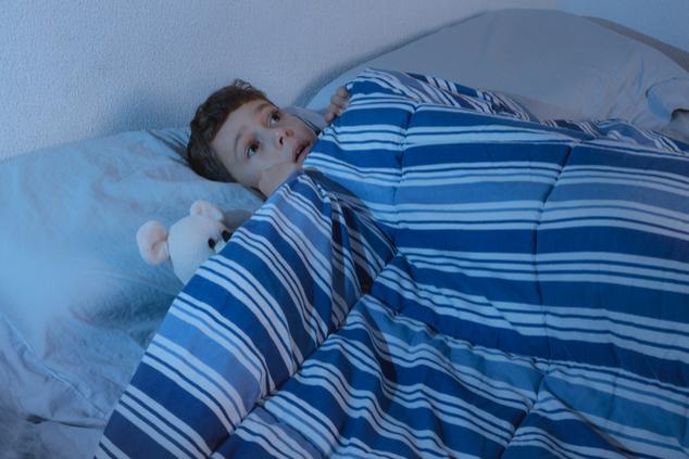 ילד מפחד בלילה (צילום: שאטרסטוק)