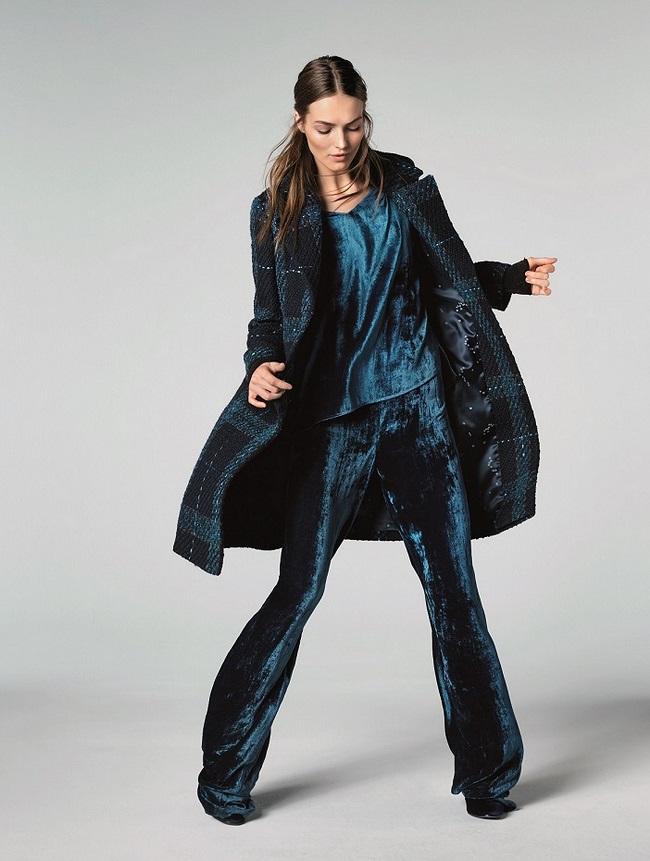 לאורל למילוס מעיל צמר 4200שח חולצת קטיפה כחולה 1020שח מכנסי קטיפה כחולים מתרחבים 1600שח צילום יחצ חול