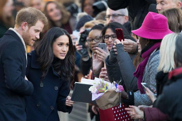 מארקל והנסיך צילום: Christopher Furlong/Getty Images
