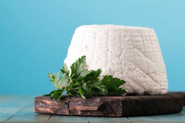גבינת ריקוטה עשירה בסידן. צילום: By id-art shutterstock