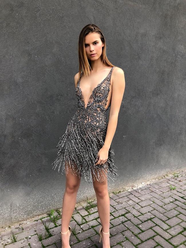 השמלה של המעצבת ברטה אותה לבשה הסופר מודל טיילור היל, צילום דודי חסון
