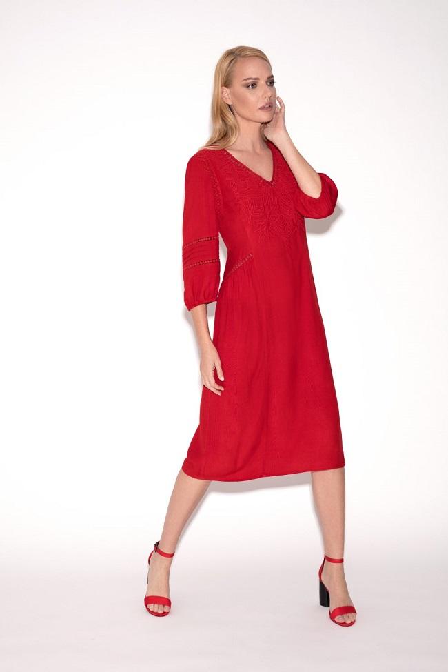 קרייזי ליין, קמפיין אביב קיץ 2018,שמלה אדומה 329.90שח  צילום דודי חסון