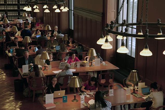חדר הקריאה על שם מילשטיין בספרייה הציבורית בניו יורק (Zipporah-Films)