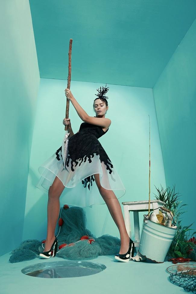 מאור צבר שמלת קורלים מיני שחורה, 2,500 שקל להשכרה. צילום: הילה שייר