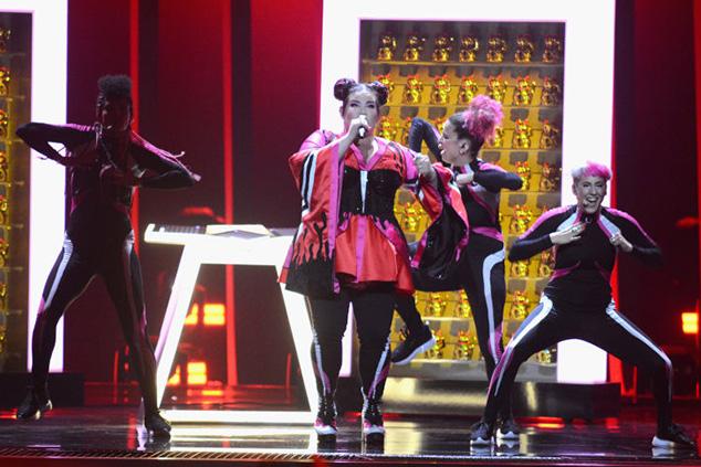 נטע ברזילי על הבמה: כמה שמנות היו באירוויזיון? (Pedro Gomes/Getty Images)