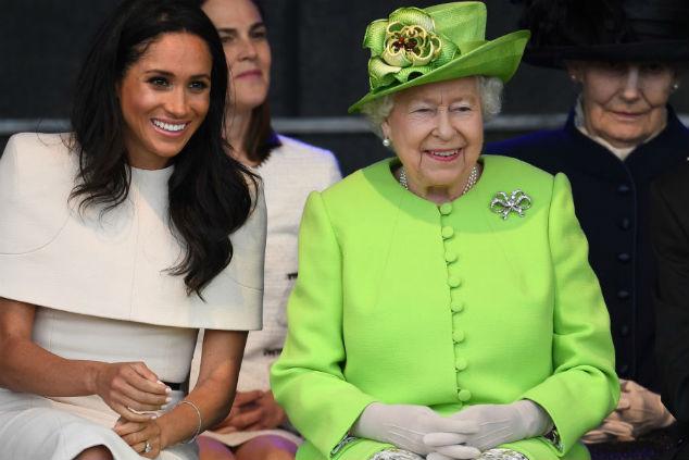 מייגן מרקל והמלכה אליזבת צילום: Jeff J Mitchell/Getty Images