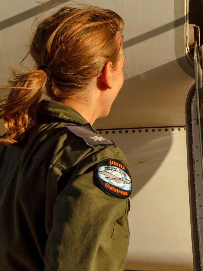 """רב סרן ג', מפקדת טייסת (צילום: דובר צה""""ל)"""