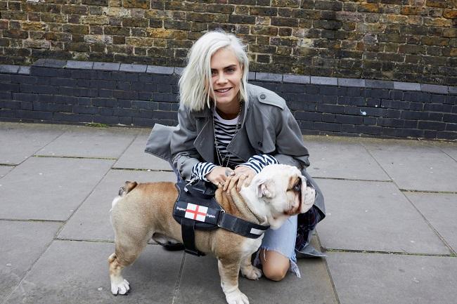 קארה דאלווין בקמפיין הבושם החדש Burberry Her צילום יחצ