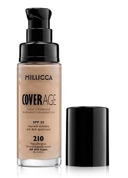 MILUCCA  מייק אפ  COVERAGE FOUNDATION SPF 25 מחיר 44.90 שח גוון 210 צילום מוטי פישביין