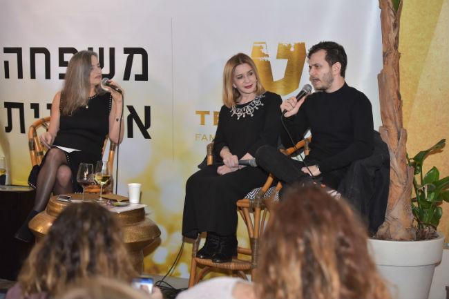 מיכאל מושונוב, סנדרה שדה ורונית הבר באירוע טפרברג (צילום: גלית סבג)