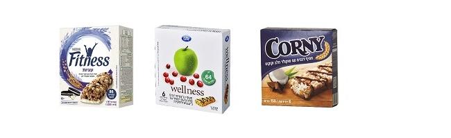 """חטיפי אנרגיה עשירים בסיבים תזונתיים של לייף, קורני ופיטנס (צילום: יח""""ץ)."""