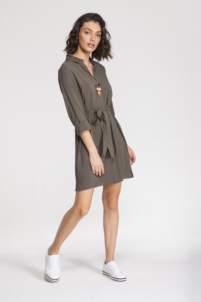 תמנון, שמלה עם קשירת מותן מחיר לפני הנחה 89.90 שח מחיר אחרי הנחה 29.90 שקל.יחצ
