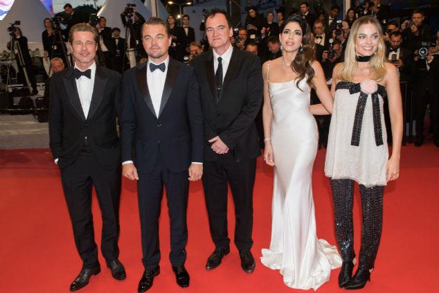 טרנטינו, מרגו רובי, ליאו, בראד ודניאלה פיק צילום Samir Hussein/WireImage