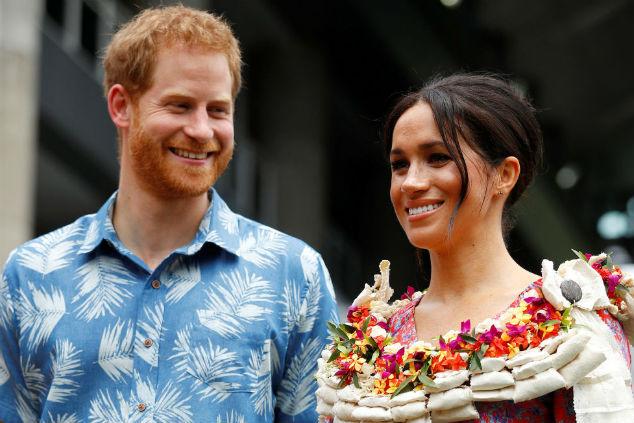 מייגן והארי הוואי שיק Phil Noble - Pool/Getty Images
